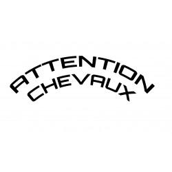 Attention Chevaux curviligne 2 lignes