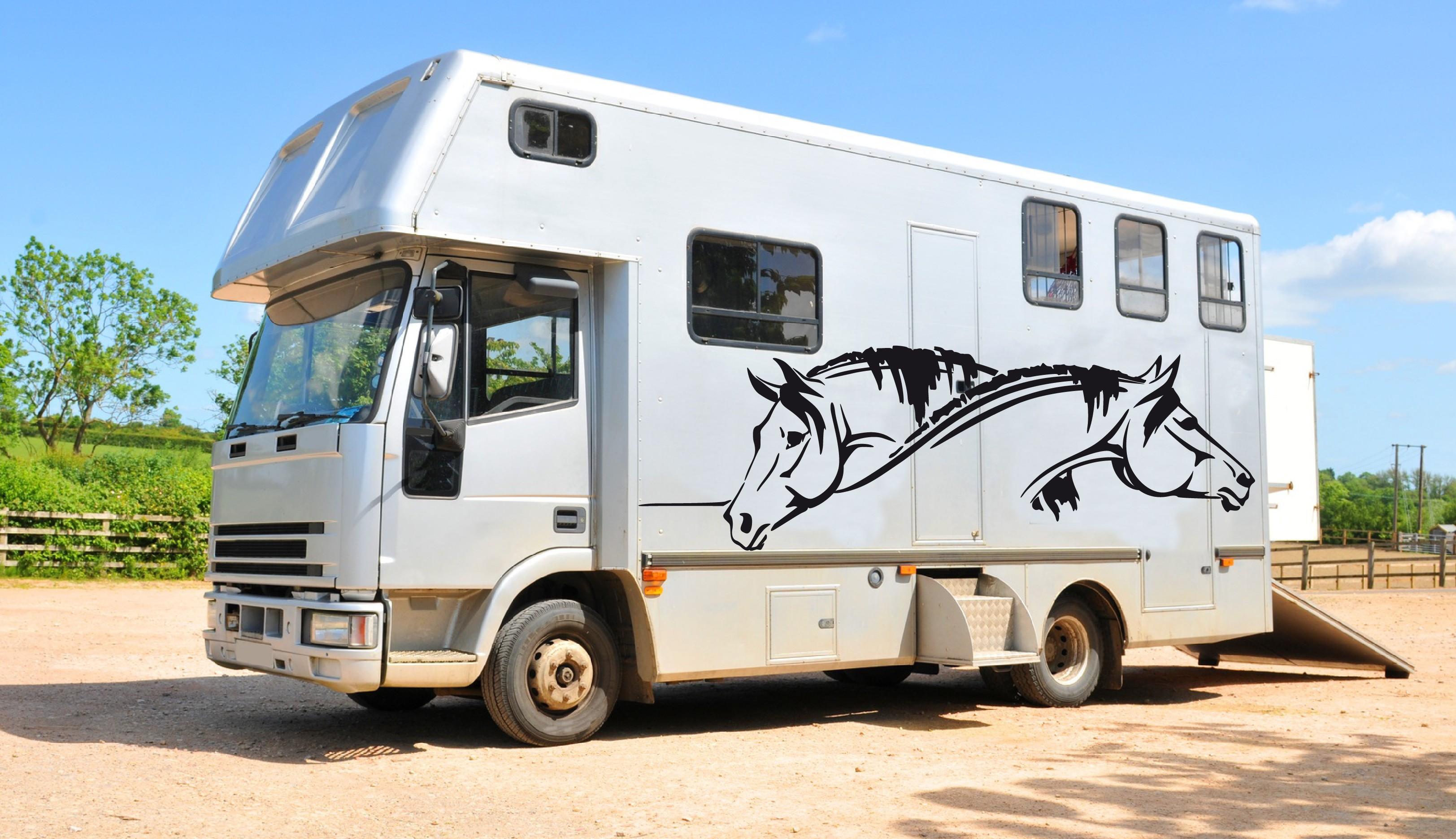 autocollants chevaux